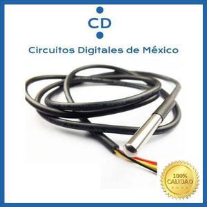 Sensor De Temperatura Digital Ds18b20 Tipo Sonda Cdmex