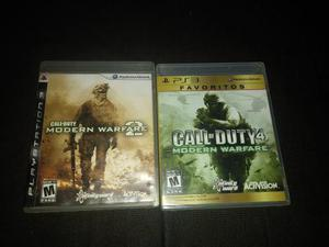 2 Juegos Call Of Duty Modern Warfare Playstation 3 Ps3