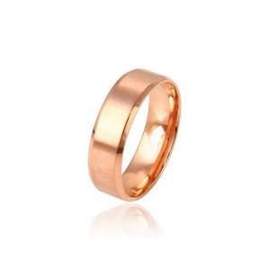 Anillo Argolla Oro Rosa 14k Laminado Matrimonio+envio Gratis