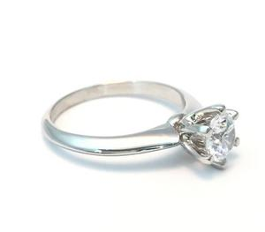 Anillo Compromiso Oro 14k Moissanit Forever One 0.50ct