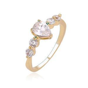 Anillo De Compromiso De Oro Con Zirconias Calidad Diamante