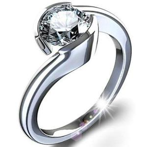 Anillo De Compromiso Oro 14k Diamante Natural.33ct