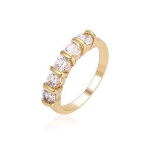 Anillo De Oro Churumbela Con Zirconias Calidad Diamante #7