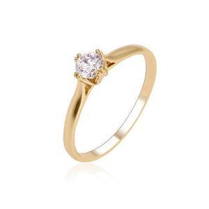 Anillo Solitario Oro Lam Con Zirconia Calidad Diamante #5