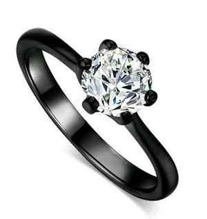 Anilo Compromiso Oro Negro 18k Y Diamantes + Envio Express