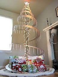 Arbol de navidad en espiral en MDF