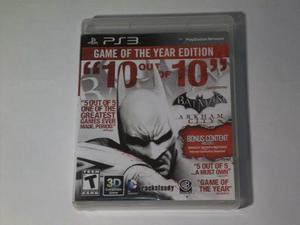 Batman Arkham City Ps3 Juego Físico Videojuego