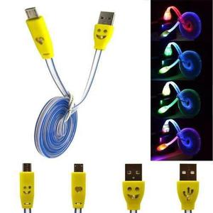 Cable Micro Usb V8 Luminoso Celulares Tablet Bocina Cargador
