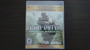 Call Of Duty 4 Modern Warfare Ps3 Nuevo Sellado