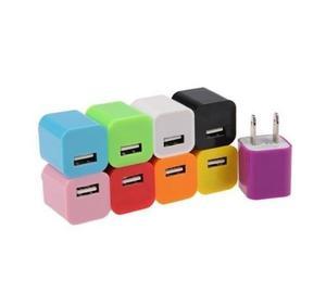 Cargador Cubo 1 A Colores Usb Para Tu Celular