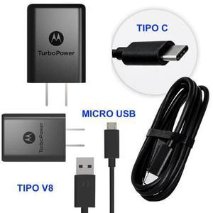 Cargador Turbo Charger Motorola V8 Micro Usb Tipo C + Envio