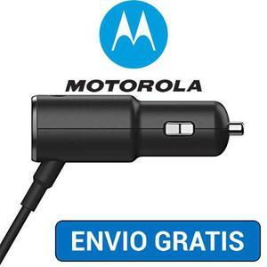 Cargador Turbo Tipo C Original Motorola Auto Moto Z, Z Play
