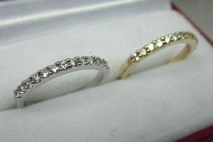 Churunbela 10k Oro Blanco O Amarillo Diamantes Sintetetico