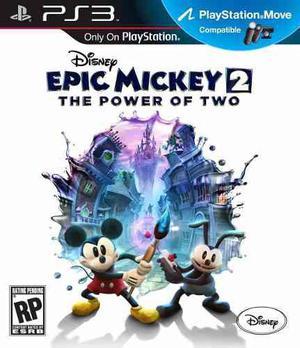 Disney Epic Mickey 2 El Poder De 2 Ps3.:ordex:.