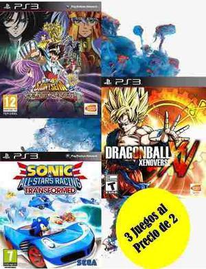 Dragon Ball Xenoverse + Cdz Alma De S +sonic Transformed Ps3