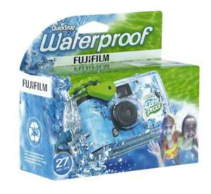 Fujifilm Quick Snap Waterproof Camara 35 Mm 27 Exp 4 Piezas