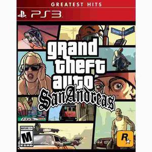 Grand Theft Auto San Andreas Playstation 3 Nuevo