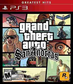 Grand Theft Auto San Andreas (nuevo Sellado) Play Station 3