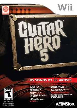 Guitar Hero 5 Juego Solamente Wii Nuevo Citygame