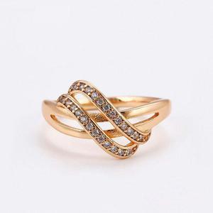 Hermoso Anillo De Oro Con Zirconias Calidad Diamante
