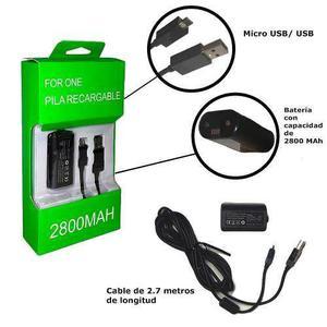 Kit Carga Y Juega Para Control Xbox One