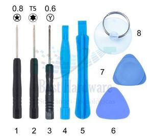 Kit Herramienta Para Iphone (5)(6)(7) Desarmadores Pentalobe