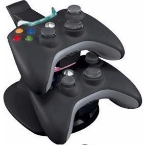 Kit Stand Cargador Doble Para Control De Xbox 360