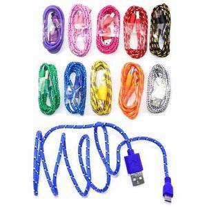 Mayoreo Cable Cargador Reforzado Micro Usb V8 Varios Colores