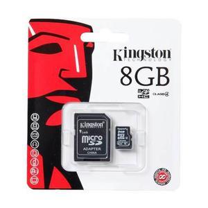 Memoria Flash 8 Gb Micro Sd Hc Adaptador Sdc4 Kingston