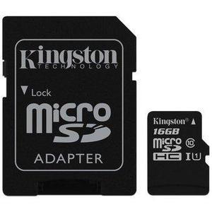 Memoria Micro Sd 16gb Kingston Clase 10 Ultra Mobile 80mb/s