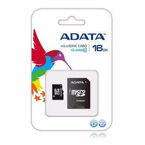 Memoria Micro Sd Adata 16gb Clase 10 Incluye Lector Sd