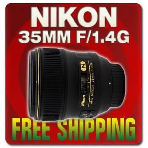 Nikon Af Fx Nikkor 35mm F/1.4g Fixed Zoom Lens With Auto Foc