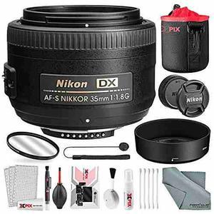 Nikon Lente Af-s Dx Nikkor 35 Mm F 1.8g, Paquete Basico Co