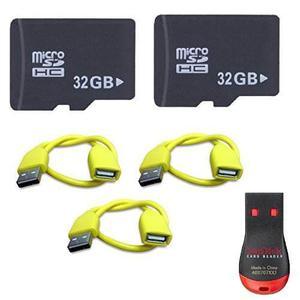 Paquete De 2 Tarjetas De Memoria Micro Sd De 32 Gb, Lector