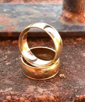 Par De Anillos, Oro Sólido De 10 K, Boda Matrimonio Alianza