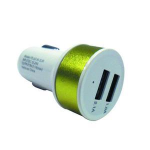 Plug In Cargador Coche Entrada Doble Usb Redondo 0129ur