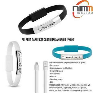 Pulsera Cable Cargador Usb Datos Celular Iphone Android