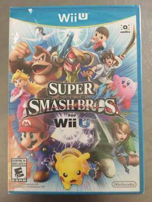 Súper Smash Bros Wii U + Mario Maker Nintendo Nuevo Sellado