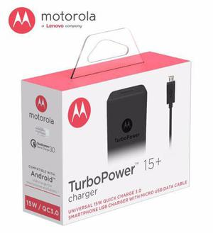 Turbo Cargador Carga Rapida Turbo Power Moto G5s Plus