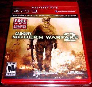 Videojuego Call Of Duty Modern Warfare 2 Ps3 Fisico Sellado