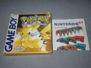 Caja Original Pokemon Amarillo Gameboy Buen Estado