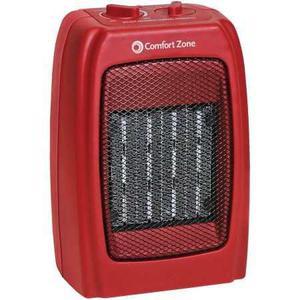 Comfort Zone Calentador De Cerámica Roja
