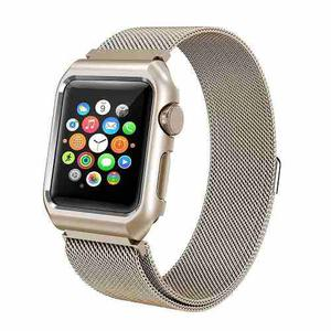 Correa Malla Con Carcasa Para Apple Watch Series 1, 2, 3 Y 4