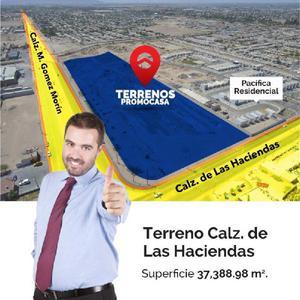EXCELENTE TERRENO COMERCIAL EN CALZ. MANUEL GOMEZ MORIN