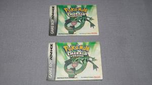 Manual Pokemon Esmeralda Game Boy Advance En Ingles 2005