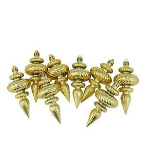 Northlight 8 Count Shiny Gold Swirl Adornos Navideños A