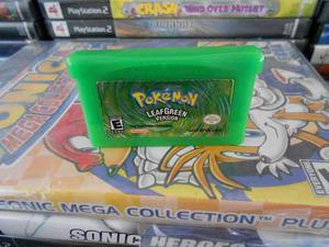 Pokemon Leaf Green Version De Game Boy Advance,funcionando.