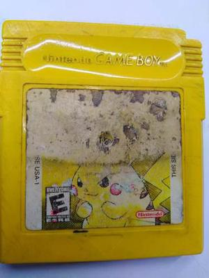 Pokemon Pikachu Amarillo Game Boy Gb