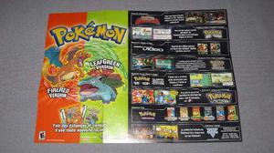 Póster Pokemon Rojo Fuego/verde Hoja Game Boy Advance 2004