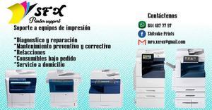Reparación y mantenimiento de impresoras multifuncionales